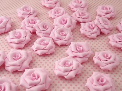 Passo a passo rosas em biscuit