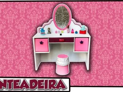Como fazer: Penteadeira para bonecas Barbie, Baby Alive, Monster High, E A H entre outras!