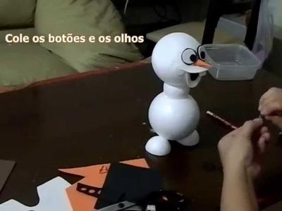 Como fazer um lindo boneco Olaf do desenho Frozen