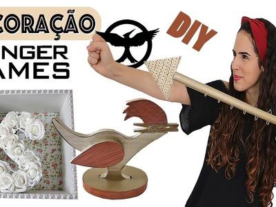 DIY: DECORAÇÃO de QUARTO inspirada em JOGOS VORAZES | Paula Stephânia