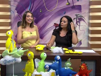 Mulher.com - 26.01.2016 - Dinossauro em feltro - Karin Montone PT1