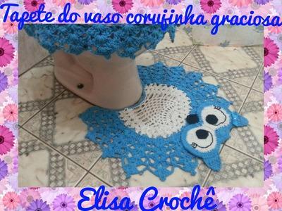 Tapete do vaso corujinha graciosa # Elisa Crochê
