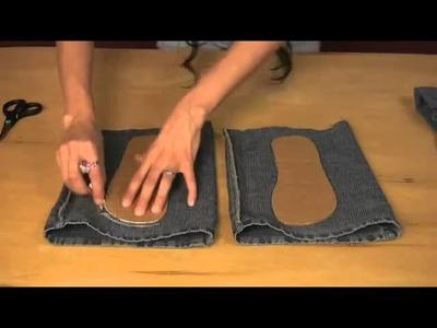 Aprenda a transforma o seu jeans em lindo chinelos para passe a