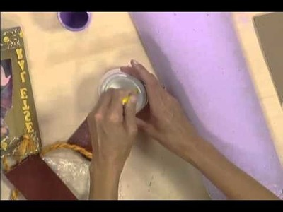 Artesanato Decupagem na telha - PGM Manhã Viva - parte 02