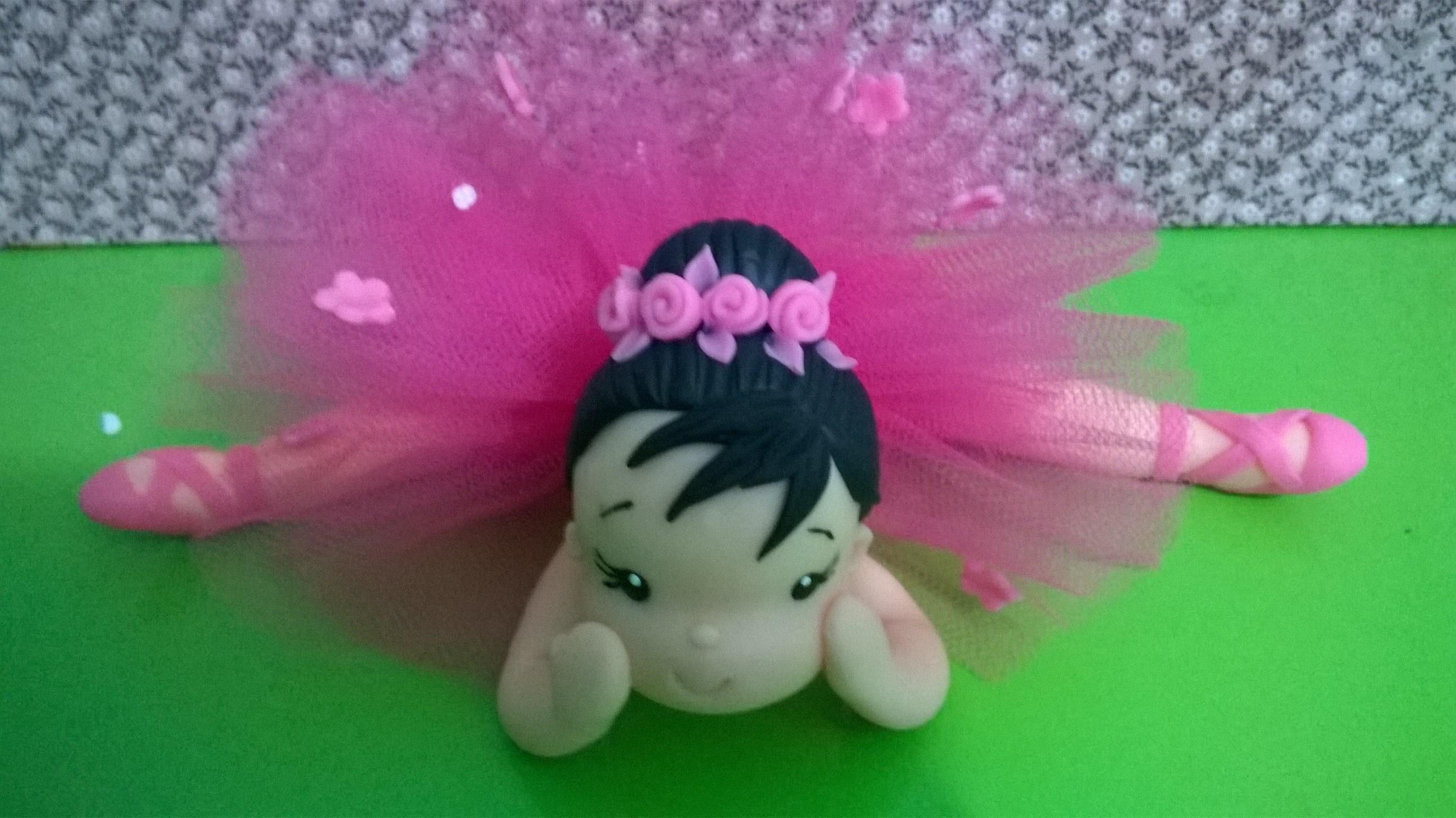 Bailarina deitada rosa pink