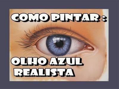 Como Pintar :  Olho Azul Realista