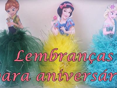 Lembranças para aniversário - princesas