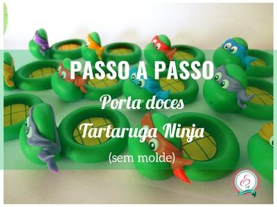 Porta doce Tartarugas Ninja sem molde
