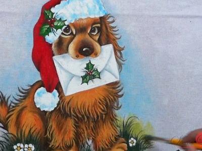 Cachorrinho de Natal em Tecido (Natal 5. 2016)