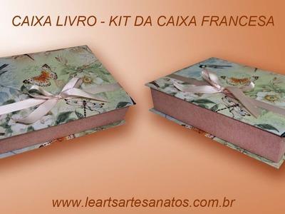 CAIXA LIVRO -  KIT DA CAIXA FRANCESA