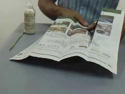 Cestaria com jornal MODULO 1