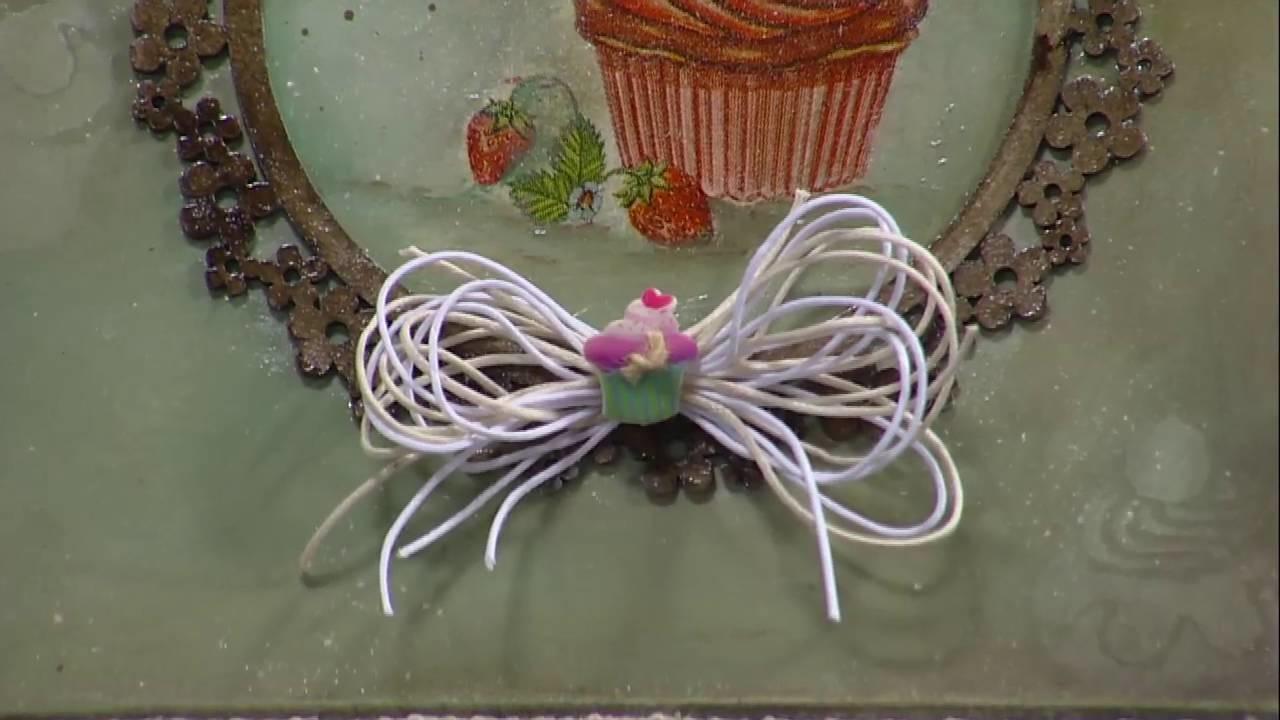 Mulher.com - 13.05.2016 - Caixa para bolo com decoupagem e pintura - Rose Rodrigues PT2