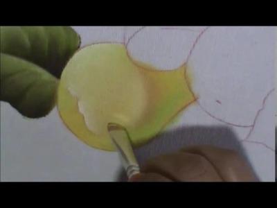 Pêras, laranjas e folhas - Aula 2 - Como pintar a pêra