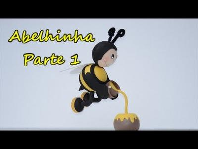 1.2 Fofucha abelhinha voando. Passo a passo. .  Feliz 2016