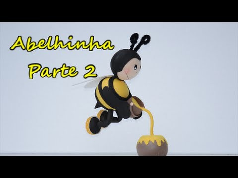 2.2 Fofucha abelhinha voando. Passo a passo. .  Feliz 2016