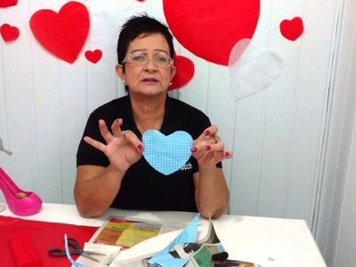 Aula 45 - Como fazer corações de papel de seda e papel crepom