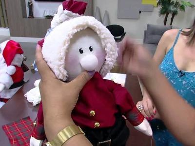 Mulher.com - 30.11.2015 - Papai Noel boneco de pano - Silvia Torres PT2