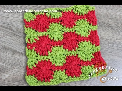 Ponto de Crochê Fantasia - 16 - Aprendendo Croche