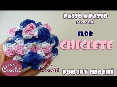 PAP Flor Chiclete - JNY Crochê