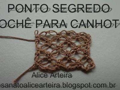 PONTO SEGREDO - CROCHÊ PARA CANHOTOS (LEFT HANDED CROCHETERS)