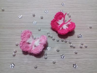 Borboleta de Crochê para Aplicação