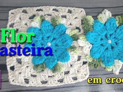 Flor Rasteira em crochê #TC