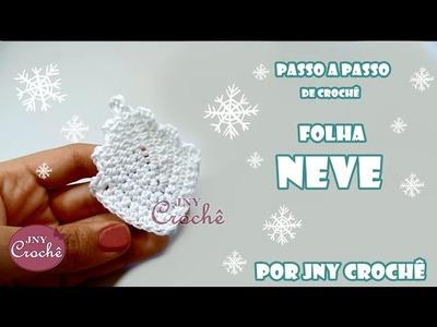 Folha de crochê Neve - JNY Crochê