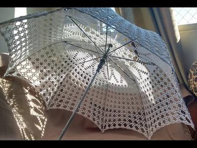 Sombrinha de crochê - PAP