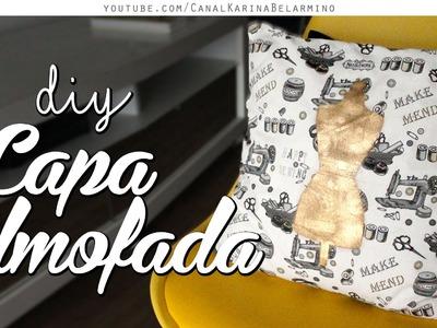 DIY Capa Almofada com estampa em 5min! | Fácil