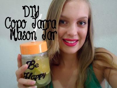 DIY- Copo Jarra (Mason Jar)