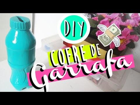 DIY.FAÇA VOCÊ MESMO: COFRE DE GARRAFA DE COCA COLA   DECORAÇÃO - O Blog da Ka ♥