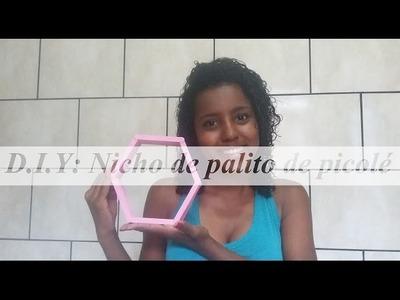 DIY: Nicho - FÁCIL | Usando palitos de picolé