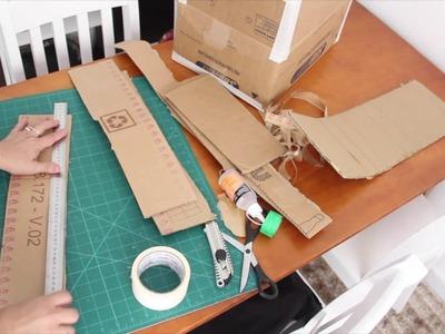 DIY - Organizador TAMPA #parte 1 (unindo partes papelão) ✂️ Artesanato