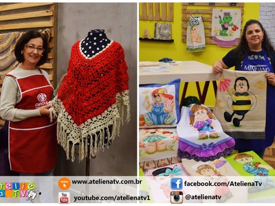 Ateliê na TV - Rede Brasil - 14.06.16 - Claudia Maria e Adriana Vit