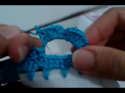 Barrado fácil de crochê#24