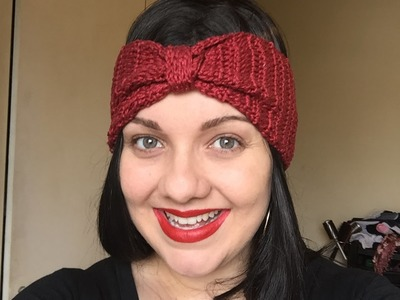 Headband em crochê