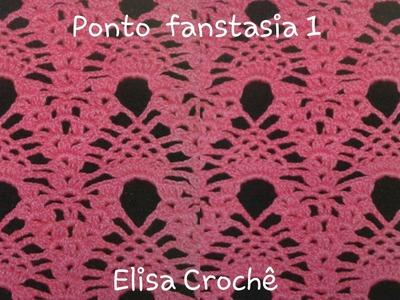 Versão canhotos : Ponto fanstasia 1 # Elisa Crochê