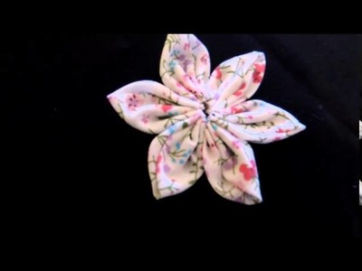 Acessório para cabelo - Flor em tecido