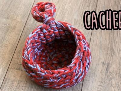 Cachepô ou cestinha em crochê