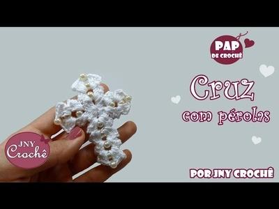 Cruz com pérolas | Remake - JNY Crochê