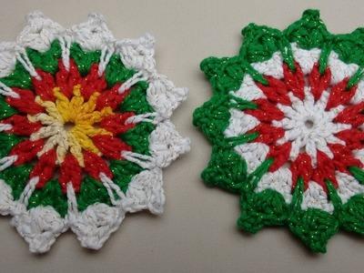 Porta Copos de Crochê Para o Natal - Wilma Crochê