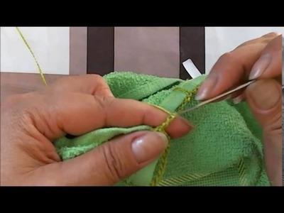 Bate mão lavabo com NOVO bico de croche-continuação passo a passo