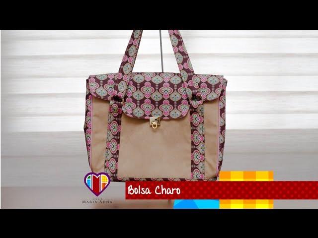Bolsa de tecido Charo - Cursos e vendas de bolsas de tecido é no Maria Adna Ateliê