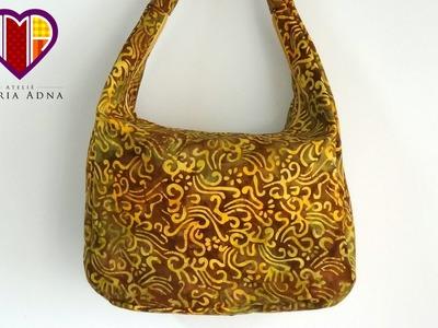Bolsa sacola de tecido Artemis - Vendas e cursos de bolsas de tecido é no Maria Adna Ateliê