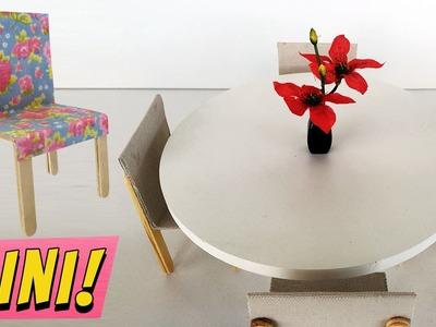 Como fazer Cadeiras e Mesas para Barbie e outras Bonecas!