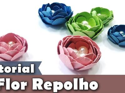 Como fazer Flor de Papel | Scrapbook | Tutorial | PAP