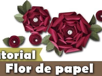 Como fazer flores de papel | Flor | Tutorial | PAP