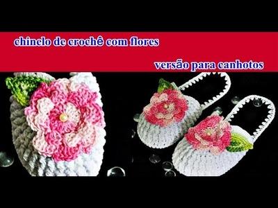 Croche | Chinelo Chique Euroroma | Crochê Versão Canhotos | Parte 2