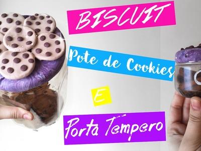 DIY - Pote de Cookies. Biscoito e Porta Temperos em Biscuit -  Passo a Passo (Iniciante)