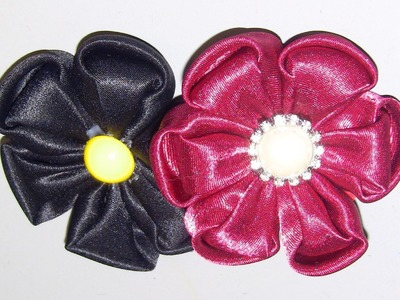 Novo modelo de flor de tecido (cetim) Passo a Passo